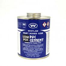 Whitlam Clear Low VOC PVC Heavy-Bodied Cement - 1 Quart (HEAVY DUTY QT)