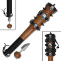 Fantasy Spiked Skull Mace/Club 13""