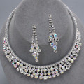 Choker Style AB Crystal Necklace Set