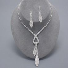 Chic Crystal Drop Necklace Set