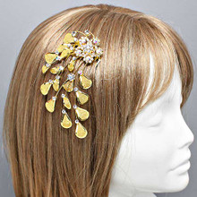 "Gold Hair Comb 3""x4"""