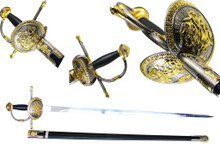 "41"" Amazingly Deatiled Don Quixote Spanish Rapier!"