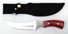 """Wooden Handle Curved Blade Hunting Knife 11"""""""