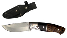 "8"" Hunting Knife Engraved with Wood Handle"