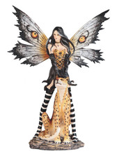 25.5 Huge exotic fairy with leopard that would make an incredible statement to any room!