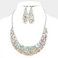 Incredibly beautiful aurora borealis necklace set.