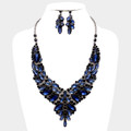 Scintillating double blue necklace set.