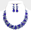 Beautifully designed blue necklace set.