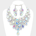 Incredibly tantalizing aurora borealis necklace set.