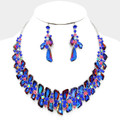 Flaming blue with a tint of flaring colors to depict an amazing necklace set