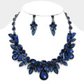 Deliciously dark blue necklace set.