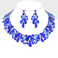 Sublime blue necklace set that beautifully wraps around the collar.