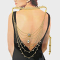 Beautiful back necklace that includes body jewelry, choker and extension.