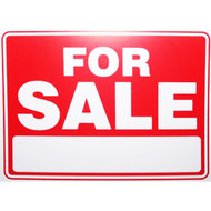 """9"""" x 12"""" For Sale Sign"""