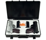 Cyma Dual Spring Airsoft Pistols With Gun Carrying Case