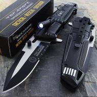 """Tac Force TF-749EM 10.5"""" EMT Rescue Spring Assisted Folding Knife With LED Light"""