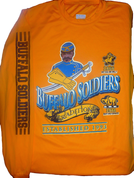 BUFFALO SOLDIERS TRIBUTE YELLOW LONG SLEEVE TEE SHIRT