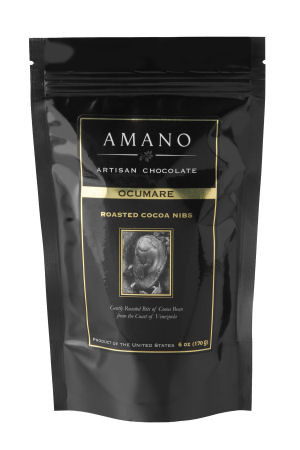 Cocoa nibs made from roasted Ocumare cocoa beans