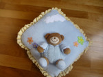 Blue Teddybear Cushion