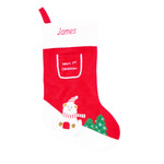 Personalised Baby's 1st Christmas Sock  - with Polar Bear