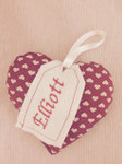 Handmade Personalised Christmas Decoration - Hearts