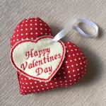 Handmade Valentines Day Heart  - Polka Dots