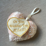 Handmade Wedding Day Heart  - Silk & Lace