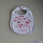 Personalised Thank Heaven for Little Girls Bib***FREE SHIPPING***