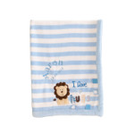 Personalised Blue I Love Hugs Blanket