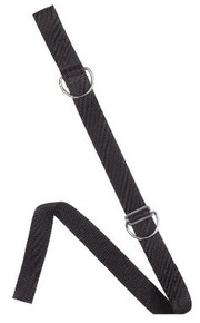 "CROTCH STRAP - 1.5"" W/ SS RING"
