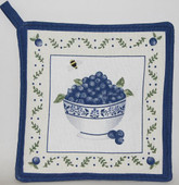 Blueberry Pot Holder &#039;Bowl of Blueberries&#039;