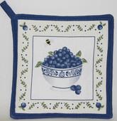 Blueberry Pot Holder 'Bowl of Blueberries'
