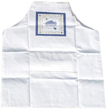 White Blueberry Bunches Apron - Adult Size