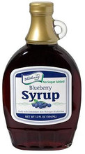No Sugar Added Blueberry Syrup 12oz.