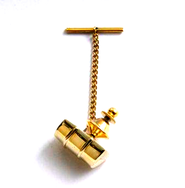 Gold Genesis Bass Drum Tie Pin