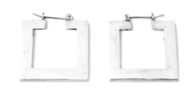 Movement Rack Square Hoop Earrings