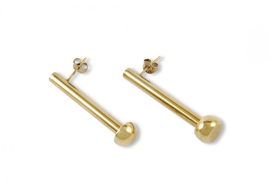 Gold Vermeil Steelpan Sticks earrings