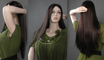 Wig 007: Dark Brown - Waist length