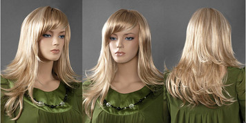 Wig 242: Golden Blond - mid-back or bra strap length