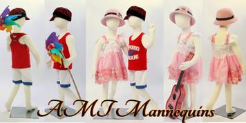 Mannequin Child Standing Flexible Unisex R-04 (Set of 2)