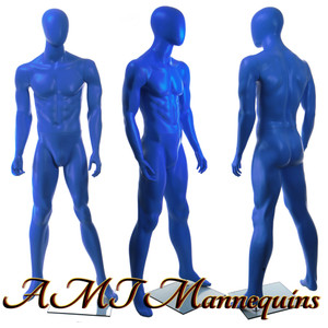 Mannequin Male Standing Model Matt - Blue Egghead