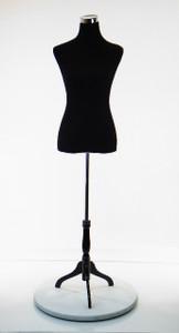Dress Form Torso Black (MH-PH-88) - Female (wood base)