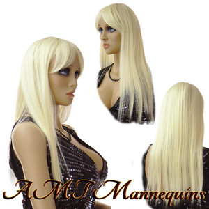 Wig JL-Blond: Yellow Blond - mid-back length