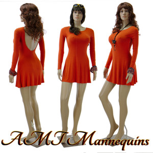 Mannequin Female Standing Model Jayne (Plastic)(straight arm)