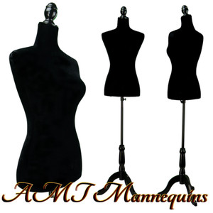 Dress Form Torso Black (YCV003) - Female (BLACK base)