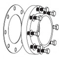 "Pentair EQ Series Less Strainer Flange Kit 6"" w/SS Hardware and Gasket"