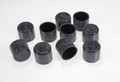 GLI Inground PROTECT A POOL Safety Fence Vinyl Pool Caps, Black 10 Pack