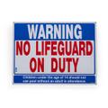 No Lifeguard on Duty Sign SW-1H - Horizontal