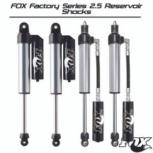 """Fox Factory Series 2.5 Reservoir Shocks Kit [2.5-4"""" Lift] - Jeep Wrangler JK [07+]"""
