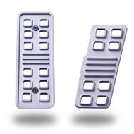 C5 / Z06 Standard Gas and Dead Pedal Set